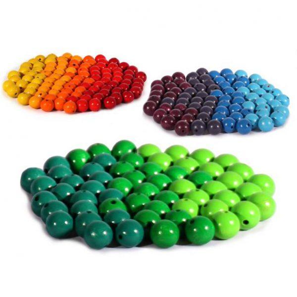 Set 240 perle 2 cm 12 colori arcobaleno Bauspiel