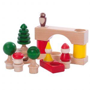 Set costruzioni Cubio Forest con personaggi Nic