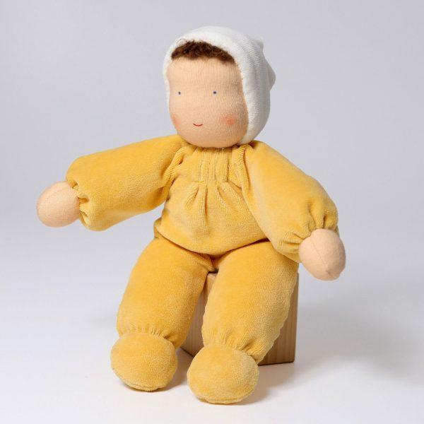Baby bambola Waldorf giallo 30 cm Grimm's