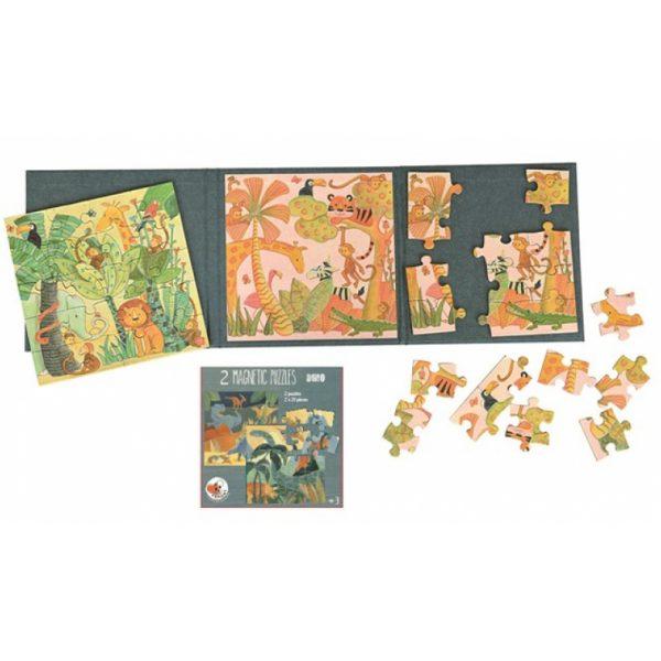 Cartella 2 puzzle magnetico da viaggio Giungla Egmont Toys
