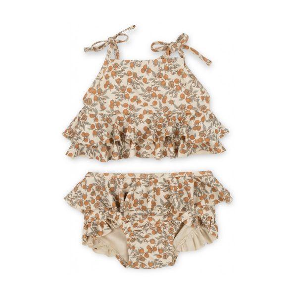 Costume bambina due pezzi bikini limoni UV50+ Konges sløjd