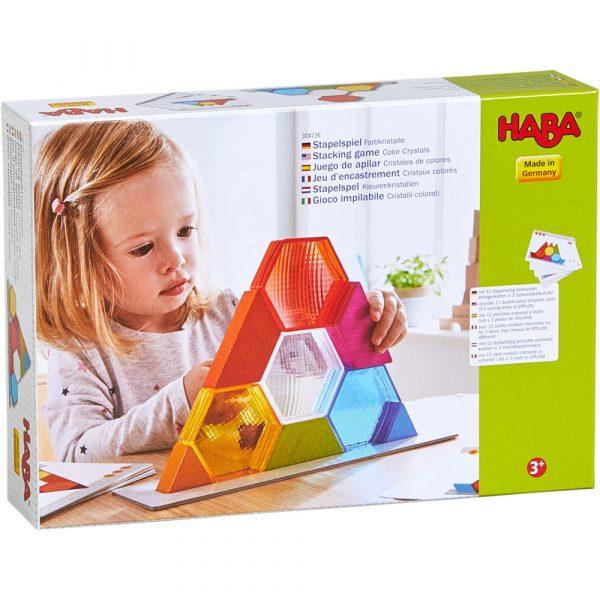 Gioco impilabile Cristalli colorati HABA