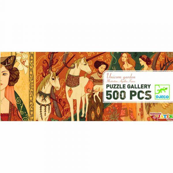 Puzzle Gallery Unicorn garden 500 pezzi Djeco