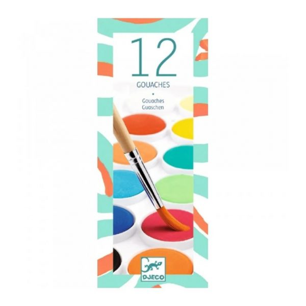 Set 12 colori acquarelli Djeco