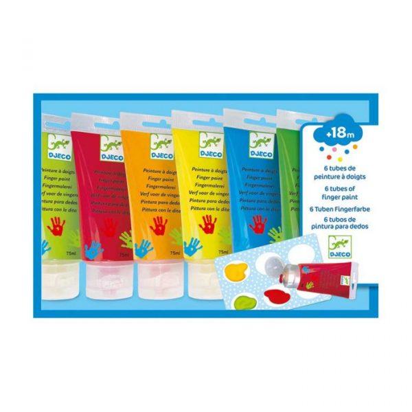 Set 6 colori a dita primari Djeco