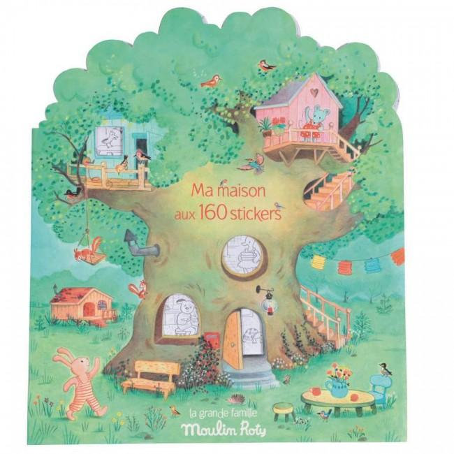 Album da colorare con 160 adesivi La Grande Famille Moulin Roty