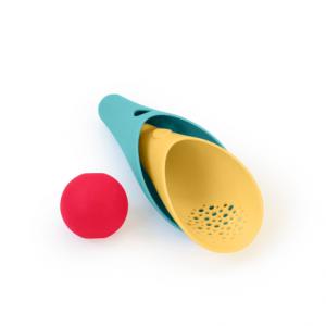 Doppio cono con pallina rossa Cuppi verde laguna Quut