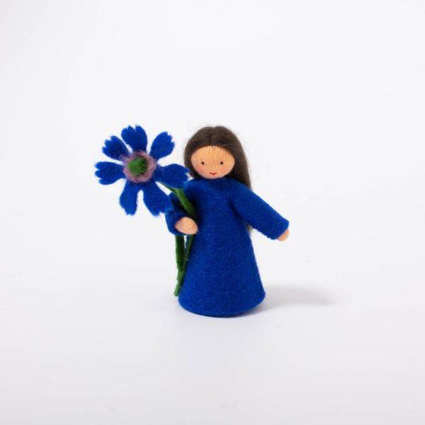 Figura Waldorf Fata Cornflower in hand Ambro-dolls