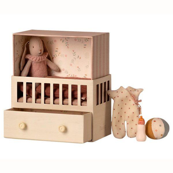 Set Baby room Micro Bunny rose Maileg