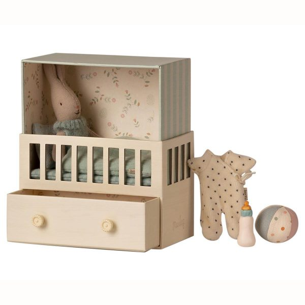 Set Baby room Micro Rabbit blue Maileg