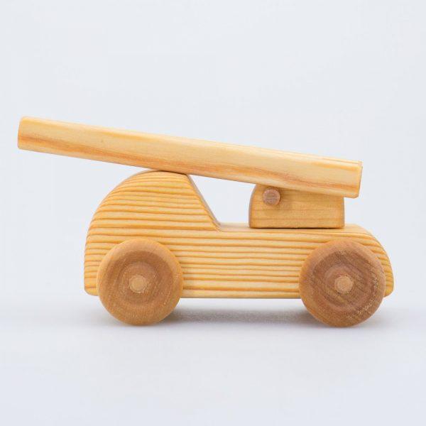 Mini auto pompieri legno massello Drei Blatter