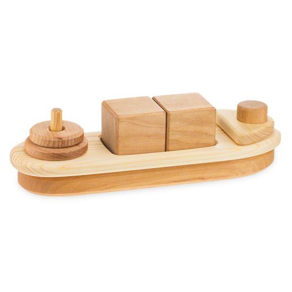 Primo gioco impilabile vascello legno massello Drei Blatter