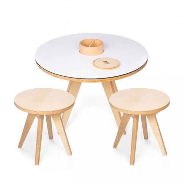 Tavolo multifunzionale 3 in 1 + 2 sgabelli Drawin Table